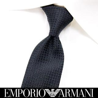 エンポリオアルマーニ(Emporio Armani)の【194】EMPORIO ARMANIブラック SILK ネクタイ(ネクタイ)