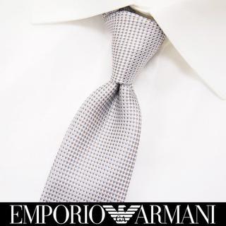 エンポリオアルマーニ(Emporio Armani)の【195】EMPORIO ARMANI シルバー SILK ネクタイ(ネクタイ)