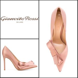 ジャンヴィットロッシ(Gianvito Rossi)のジャンヴィトロッシ ハイヒール パンプス シルクサテン ピンク ロッシ(ハイヒール/パンプス)