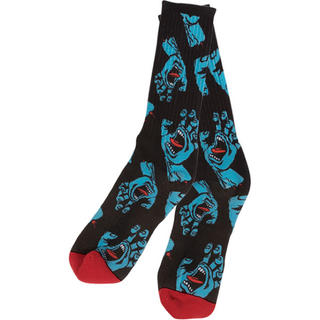 パウエル(POWELL)のSantaCruz Hands All-Over Crew Socks BK (ソックス)
