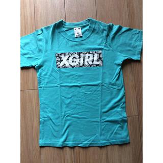 エックスガール(X-girl)のx girl  Tシャツ ターコイズブルー(Tシャツ(半袖/袖なし))