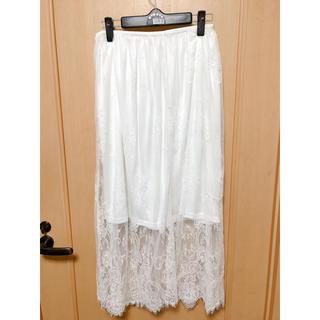 バイバイ(ByeBye)のByeBye チュールスカート ペチコート付(ロングスカート)