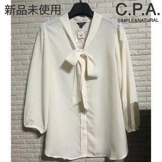 C.P.A. SIMPLE&NATURAL 新品未使用 シフォンブラウス シャツ(シャツ/ブラウス(長袖/七分))