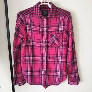 アメリカンイーグル(American Eagle)のコットンシャツ チェックシャツ XXSサイズ(シャツ/ブラウス(長袖/七分))