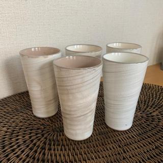 ハクサントウキ(白山陶器)のmadu湯呑み5セットやきもの(食器)