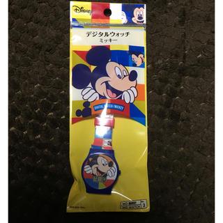 ディズニー(Disney)のデジタルウォッチ ミッキー柄(腕時計)