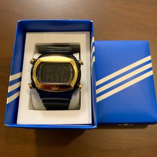 アディダス(adidas)の天和さん専用☺︎adidas アディダス 腕時計 デジタル 黒 ゴールド(腕時計(デジタル))