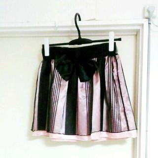 ジェーアイマックス(Ji.maxx)の美品 Ji.maxx ミニスカート 薄ピンク ストライプ ゴスロリ 姫系(ミニスカート)