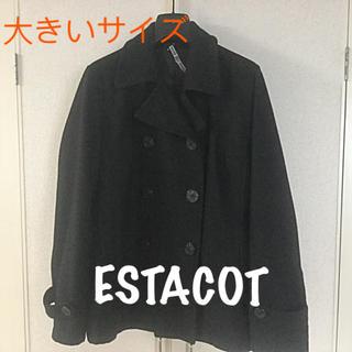 エスタコット(ESTACOT)のお値下げ❣️ESTACOT★ピーコート ゆったりサイズ(ピーコート)