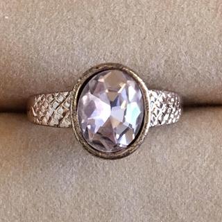 【売約済み】(87)ピンクビジューのファッションリング アンティーク(リング(指輪))