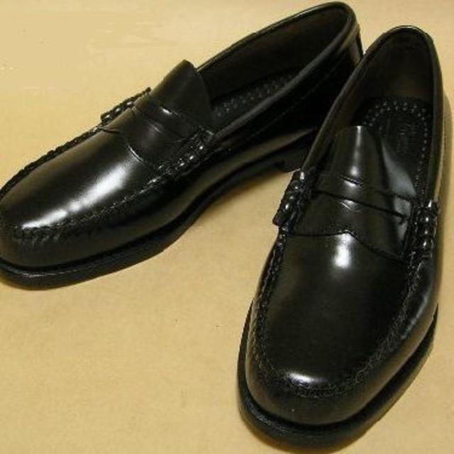 G.H.BASS(ジーエイチバス)のG.H.Bass U.S.A コインローファーLarson 黒本革 27.5cm メンズの靴/シューズ(スリッポン/モカシン)の商品写真