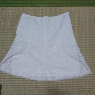 イプダ(epuda)のイプダ白レース スカート (ひざ丈スカート)