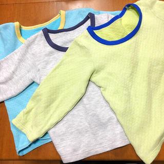 シマムラ(しまむら)のお値下げ‼︎しまむら☆長袖下着3枚セット(95)(下着)