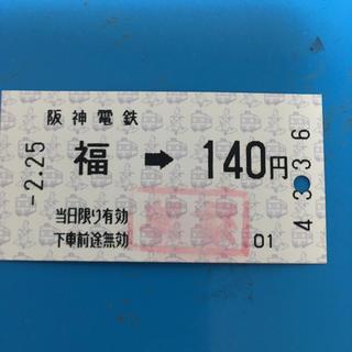ハンシンタイガース(阪神タイガース)の阪神電車 福(鉄道乗車券)