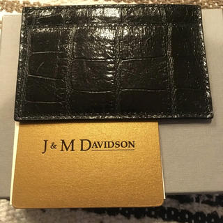 jm j&m davidson カードケース 黒
