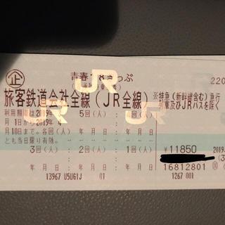 青春18切符 1枚 5回分 青春18きっぷ(鉄道乗車券)