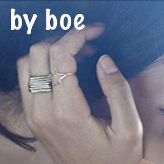 バイボー(by boe)のby boe ワイヤー  スター⭐️リング  14K GOLD FILLED(リング(指輪))