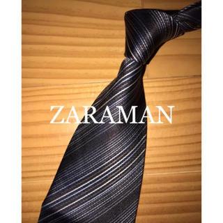 ザラ(ZARA)の値下げ 美品 ザラ ダークブラウン系マルチストライプ(ネクタイ)