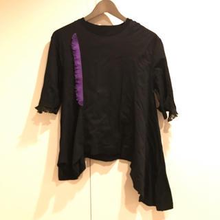 オキラク(OKIRAKU)のアシンメトリーカットソー(カットソー(半袖/袖なし))
