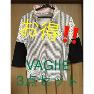 バジエスポーツ(VAGIIE SPORT)のVAGIIE  七分袖シャツ ポロシャツ2枚の3点セット ゴルフ サイズ40(ポロシャツ)