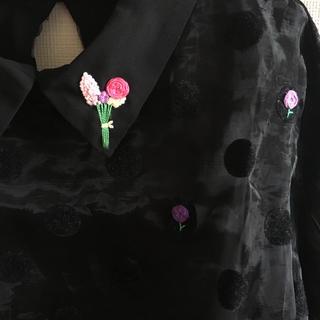 パウダーシュガー(POWDER SUGAR)のリメイクチュールシャツ(シャツ/ブラウス(長袖/七分))