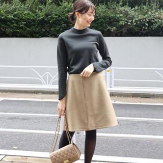 ノーブル(Noble)の新品タグ付き ノーブルメルトンボタン スカート キャメル IENA 好きにも(ひざ丈スカート)