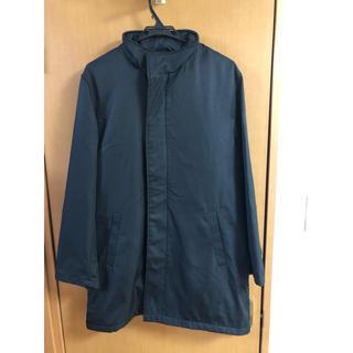 シマムラ(しまむら)のメンズ スーツアウターコート 黒(ナイロンジャケット)