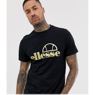 エレッセ(ellesse)のELLESSE(エレッセ)ブラック ゴールド ロゴ T シャツ(Tシャツ/カットソー(半袖/袖なし))