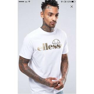 エレッセ(ellesse)のELLESSE(エレッセ)ホワイト ゴールド ロゴ T シャツ(Tシャツ/カットソー(半袖/袖なし))