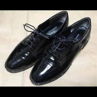 ジルスチュアート(JILLSTUART)のジルスチュアート レースアップシューズ  エナメル(ローファー/革靴)