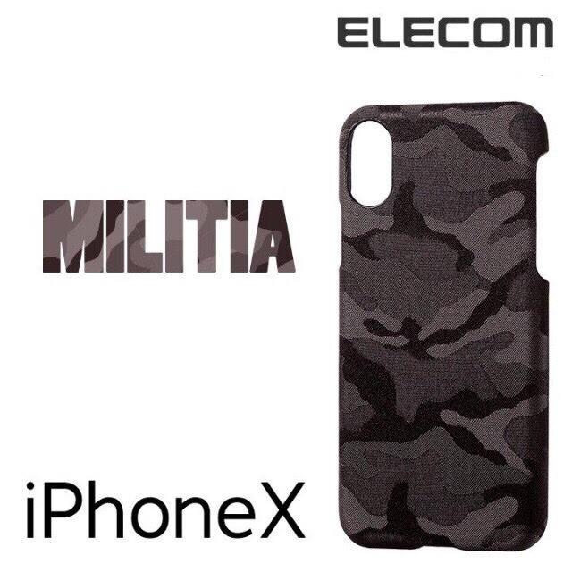 ELECOM - カモフラ緑 iPhoneX/XS ケース PM-A17XPLOCFGNの通販 by booqmaak|エレコムならラクマ