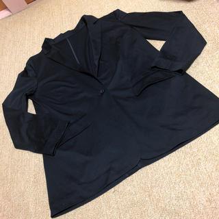 ノーリーズ(NOLLEY'S)の黒の綿ジャケット38サイズ(テーラードジャケット)