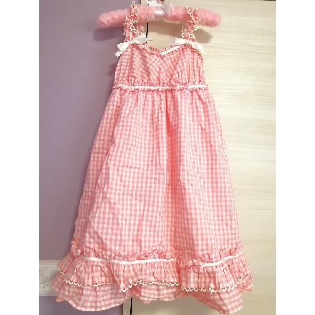 Heart E(ハートイー)のHeart E ギンガムジャンパースカート レディースのワンピース(ひざ丈ワンピース)の商品写真