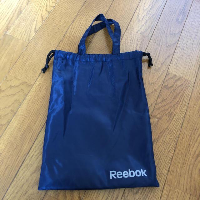 Reebok(リーボック)の新品 未使用 リーボック  袋 エコ ナイロン 手提げ シューズ入れ 巾着 レディースのファッション小物(ポーチ)の商品写真
