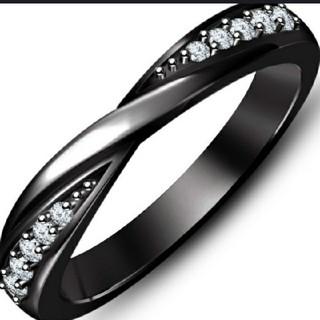 ブラックリング  size9(リング(指輪))