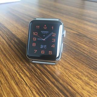 アップルウォッチ(Apple Watch)の【本日限定値下げ】アップルウォッチseries2 エルメス中古 42mm(腕時計(デジタル))