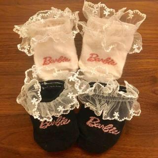 バービー(Barbie)のBarbie ベビーソックス(靴下/タイツ)