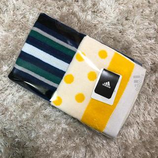 アディダス(adidas)のadidas ハンドタオル フェイスタオル セット(タオル/バス用品)