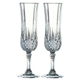 クリスタルダルク(Cristal D'Arques)の3月限定価格!新品未使  Cristal D'Arques フルートペア(グラス/カップ)