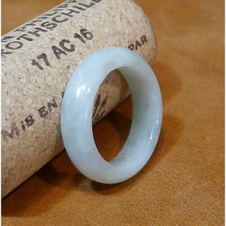 J507 ヒスイ 翡翠 リング 指輪 13号 ミャンマー ジェイド ジェダイト(リング(指輪))