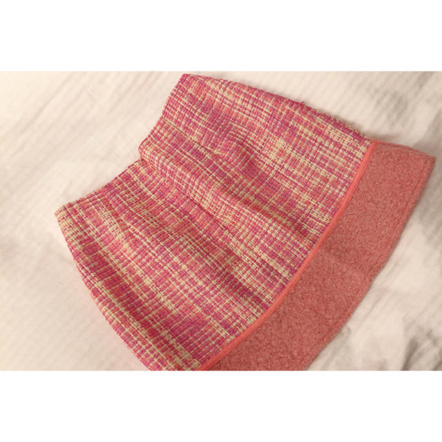 MERCURYDUO(マーキュリーデュオ)のマーキュリーデュオ MERCURYDUO ツイード ピンク タイトスカート レディースのスカート(ミニスカート)の商品写真