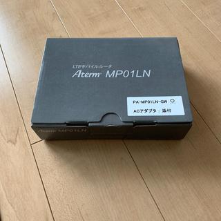 エヌイーシー(NEC)のSIMフリーモバイルルータ Aterm MP01LN GWホワイト(PC周辺機器)