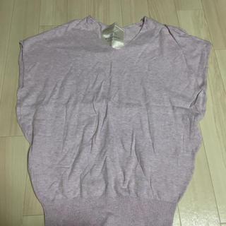 ミスティウーマン(mysty woman)の薄手ニット(Tシャツ(半袖/袖なし))