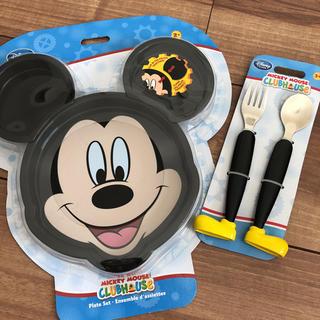 ディズニー(Disney)の新品未使用 ミッキー 食事セット プレート 食器 ディズニー (離乳食器セット)
