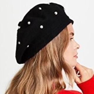 ケイトスペードニューヨーク(kate spade new york)の未使用☆kate spade ケイトスペード パール ベレー帽(ハンチング/ベレー帽)