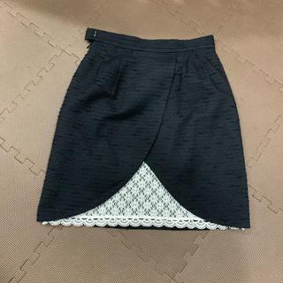 デビュードフィオレ(Debut de Fiore)のデビュードフィオレ バックレースタイトスカート(ひざ丈スカート)