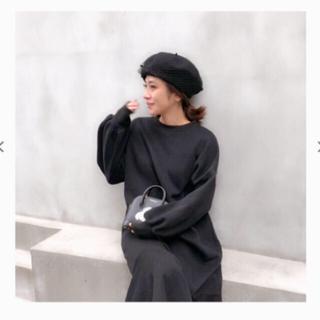 ザラ(ZARA)の新品未使用♡チュールベレー帽♡ドット(ハンチング/ベレー帽)