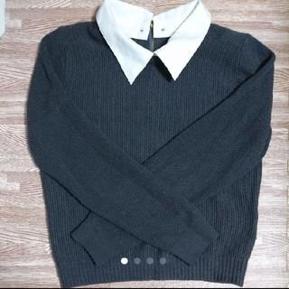 グラスライン(Glass Line)の襟付き長袖ニットセーター(ニット/セーター)