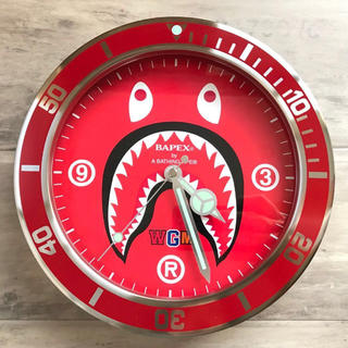 A BATHING APE - shark 掛け時計 BAPE シャーク ウォールクロック ape ベイプ