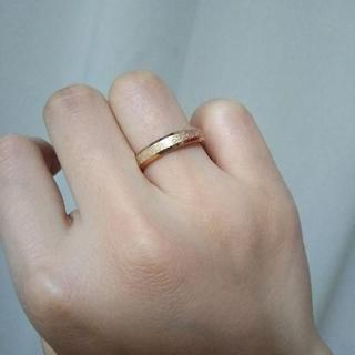 フロストリング ピンクゴールド 4mm幅(リング(指輪))